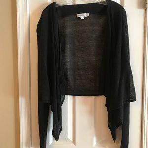 Calvin Klein Sweaters - Calvin Klein Black Linen Waterfall Cardigan
